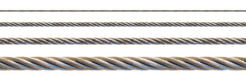 Seamless steel cable. Royalty Free Stock Images