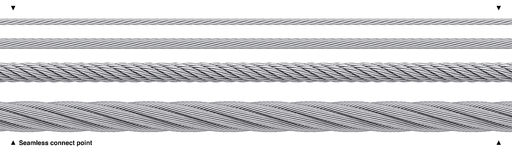 Seamless steel cable repeatable wire rope stock illustration