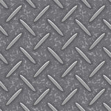 Seamless steel diamond plate grunge texture Royalty Free Stock Photo