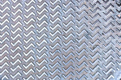 Seamless steel diamond plate texture Stock Photos