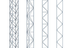Seamless steel girders Royalty Free Stock Photography