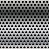Seamless steel perforated steel Royalty Free Stock Photo