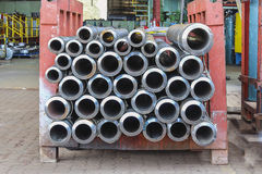 The Seamless steel pipe. High quality steel seamless pipe for industrial work Stock Photography
