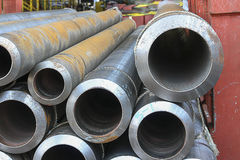 The Seamless steel pipe. High quality seamless steel pipe for industrial work Stock Photo