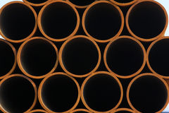 Seamless steel tube cross section Stock Photos