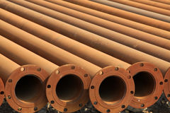 Seamless steel tube cross section Stock Photo