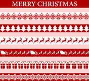 Seamless stickers for Christmas and New Year Stock Photos