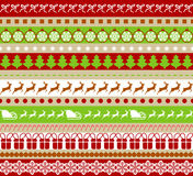 Seamless stickers for Christmas and New Year Stock Photography