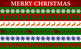 Seamless stickers for Christmas and New Year Stock Images