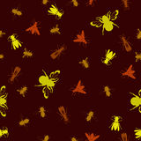 Seamless stinging insect background Royalty Free Stock Images