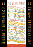 40 seamless stitch brushes. Stock Image