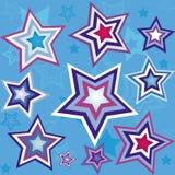 seamless stjärnawallpaper Royaltyfri Foto
