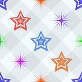 seamless stjärnor Royaltyfri Illustrationer