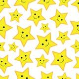 seamless stjärnor för lycklig modell Arkivbilder