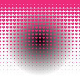 Seamless Stock  Heart background pattern with glow illustration Royalty Free Stock Photography