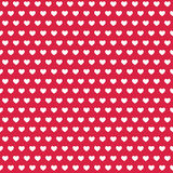 Seamless Stock  white Heart on red background pattern illustration Royalty Free Stock Photography