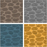 Seamless stone background. Four seamless stone background different colors Royalty Free Stock Photography