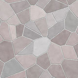 Seamless stone wall mosaic texture Royalty Free Stock Photo