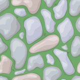 Seamless stones green with ants Royalty Free Stock Photography
