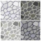 Seamless Stonewall pattern. Set of four seamless wall pattern Stock Photo