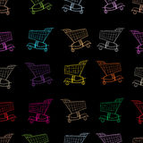 Seamless store carts Stock Image