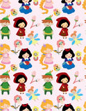 Seamless story people pattern Stock Photo