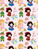 Seamless Story People Pattern Stock Photo
