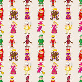 Seamless story people pattern Stock Images