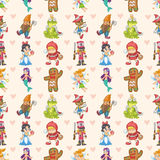 Seamless story people pattern Royalty Free Stock Photo