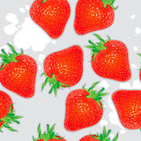 Seamless straberries background Royalty Free Stock Photos