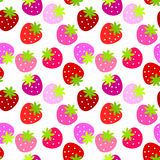 Seamless Strawberries Background Stock Images