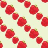 Seamless strawberries pattern Stock Image