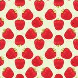 Seamless strawberries pattern Stock Photos
