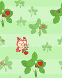 Seamless strawberry background Royalty Free Stock Photography
