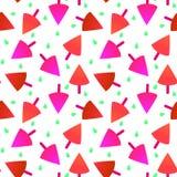 Seamless strawberry icecream pattern texture Stock Photography