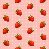 Seamless strawberry pattern. Seamless pattern with strawberry. Vector illustration Stock Image