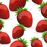 Seamless Strawberry Pattern Stock Photography