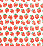 vector seamless strawberry pattern Stock Image