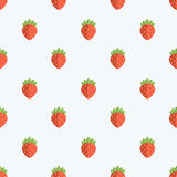 Seamless Strawberry Pattern Background Royalty Free Stock Photos