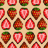 Seamless strawberry pattern Stock Photo