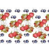 Seamless strawberry Stock Photography