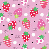 Seamless strawberry pattern vector illustration Royalty Free Stock Photography