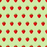 Seamless strawberry pattern. Vector illustration Stock Photo