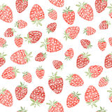 Seamless strawberry texture, endless berry background. Abstract. Summer harvest background. Seamless pattern with red scratched strawberries. Endless berry Stock Photography