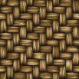 Seamless StrawMat Texture Stock Image