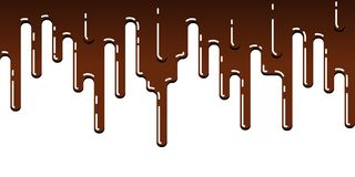 Seamless streak of dripping chocolate Royalty Free Stock Photos