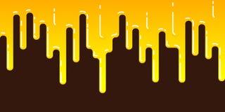 Seamless streak of dripping honey Stock Photography