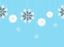 Seamless string of snowflakes Stock Image