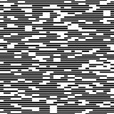 Seamless Stripe Pattern. Seamless Dotted Stripe Pattern. Vector Monochrome Texture. Abstact Chaotic Line Background. Digital Bar Code Design Vector Illustration