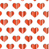 Seamless striped abstract background with heart. S. Vector illustration Stock Photography